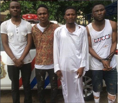 'Yahoo Boys' and Online Fraudsters Arrested in Lagos State (Photo)