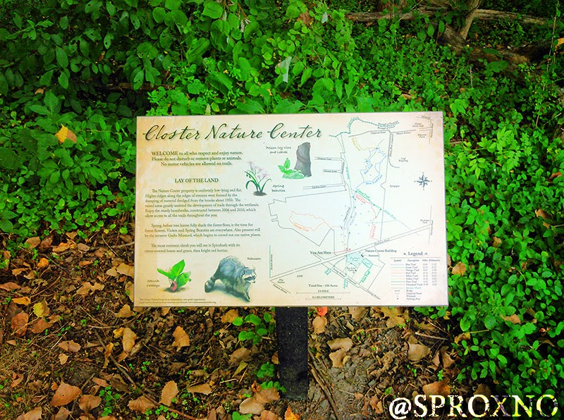 Closter Nature Center Trail Map