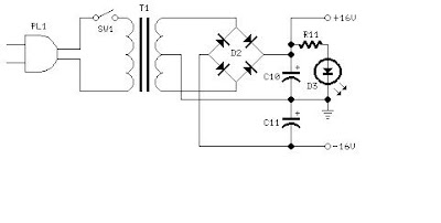 diagram circuit: 10Watt Audio Amplifier with Bass boost
