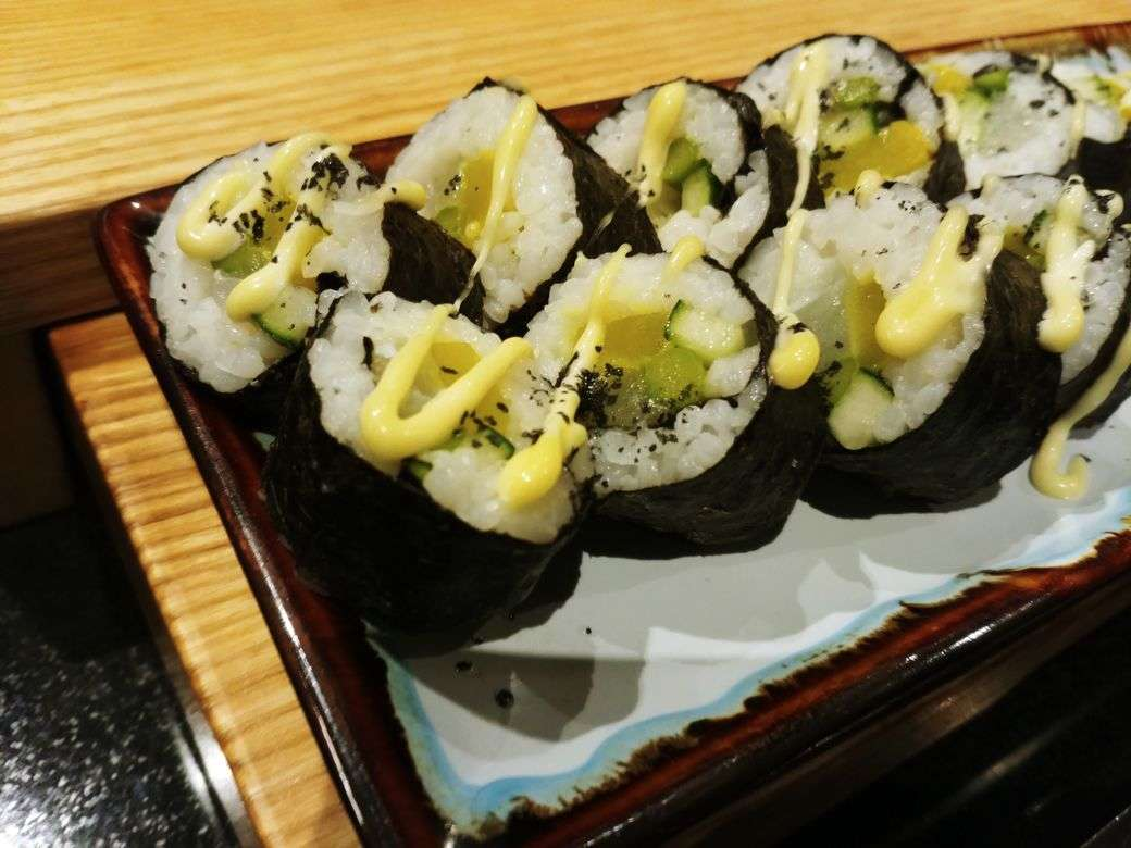 Maki rolls at the Japanese station of The Grand Kitchen