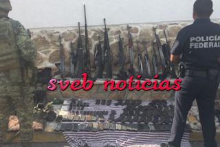 Caen 3 integrantes de 'Los Viagra' con fuerte arsenal en Guerrero