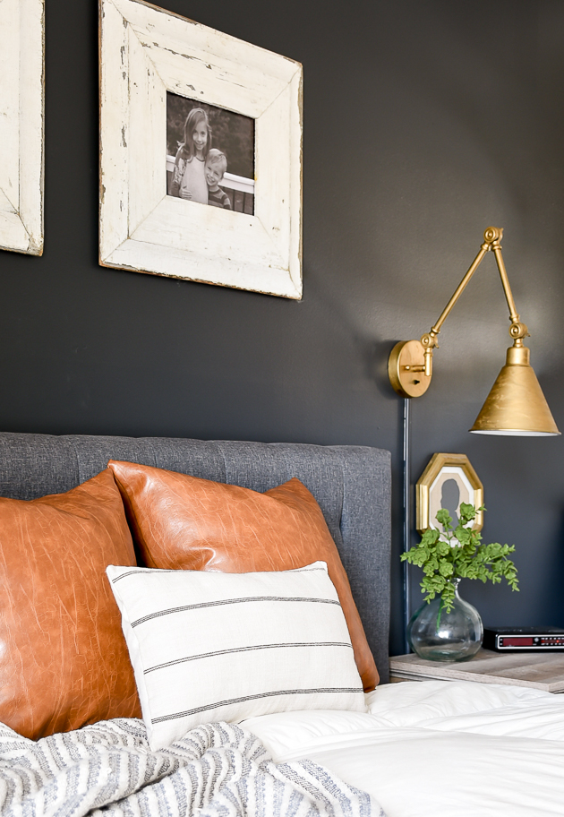 modern farmhouse, bedroom, high contrast, bedroom decor