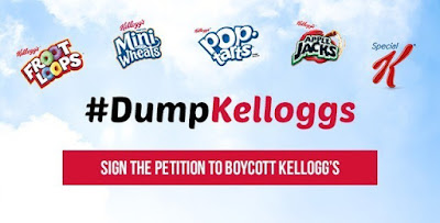 """the alt right website Breitbart has just now declared war on kellogs,as the cereal brand pulls off advertising from the site"""