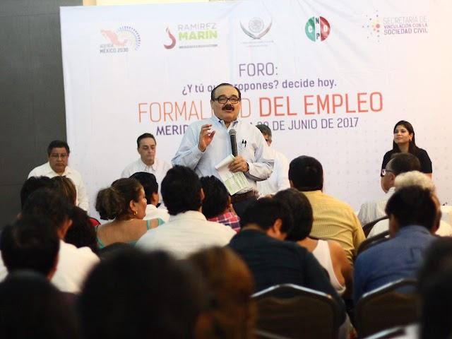 El empleo, la propuesta social del PRI, afirma Ramírez Marín