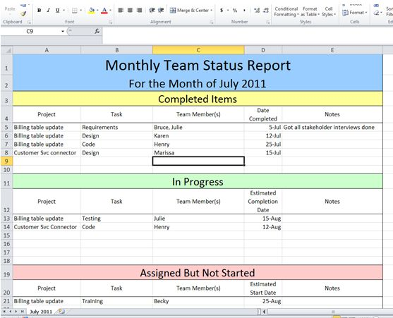 Project Daily Status Report Template Free Download Download Free – Daily Status Report Template
