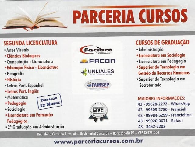PARCERIA CURSOS