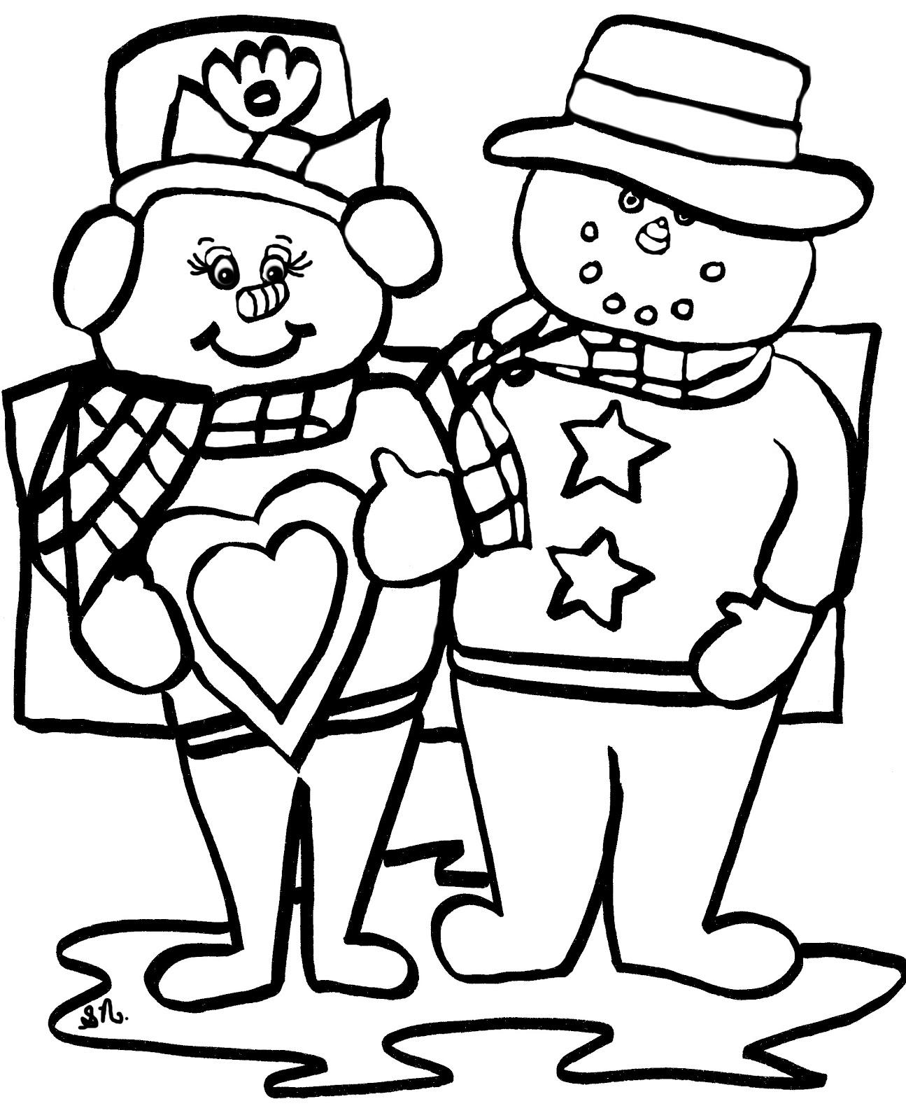 Christian Images In My Treasure Box: Home Drawn Snowmen