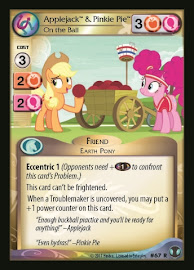 My Little Pony Applejack & Pinkie Pie, On the Ball Defenders of Equestria CCG Card