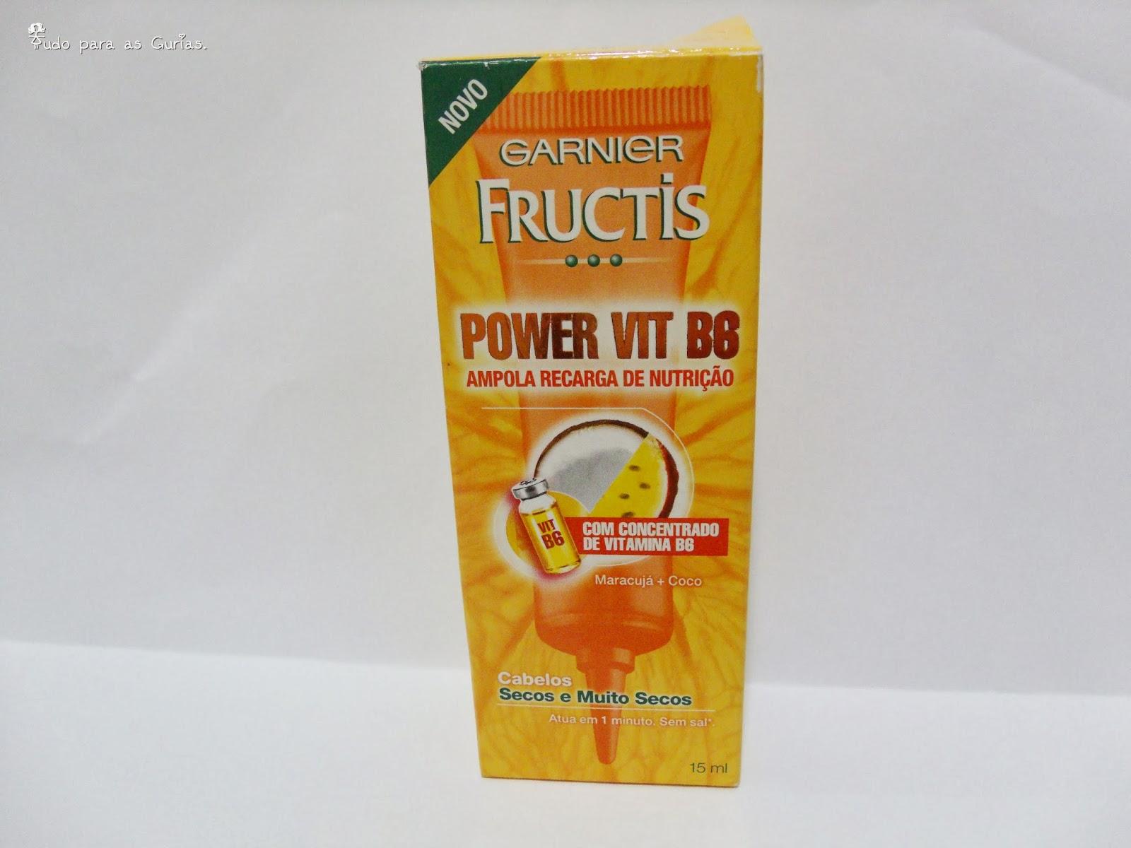 Testei e gostei:Ampola de tratamento da Garnier Fructis.