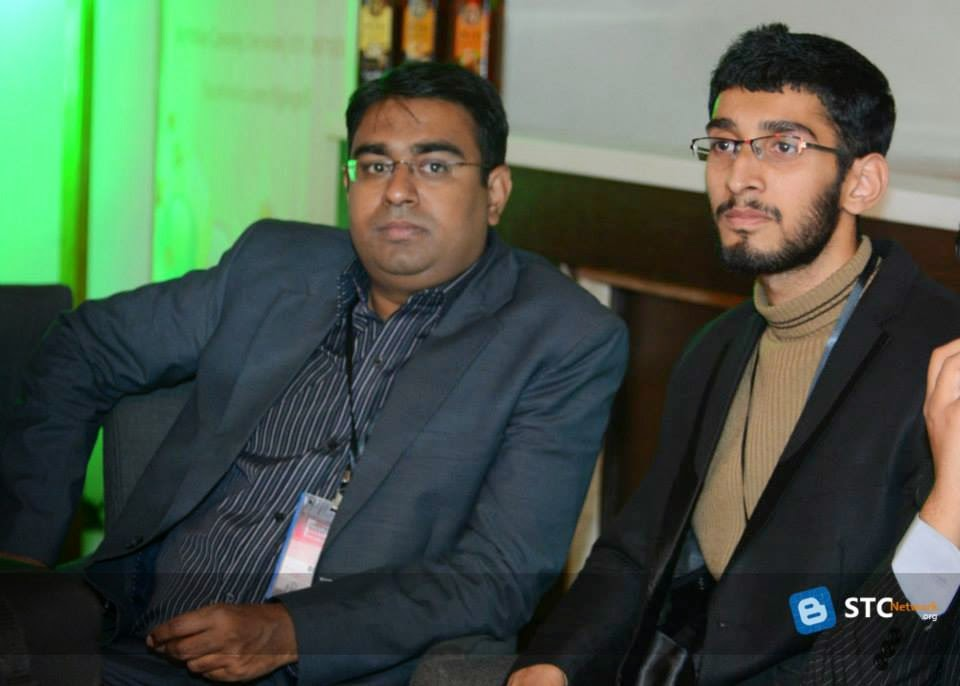 Bilal Naseer (left) with Hassam Ahmed Awan (right)