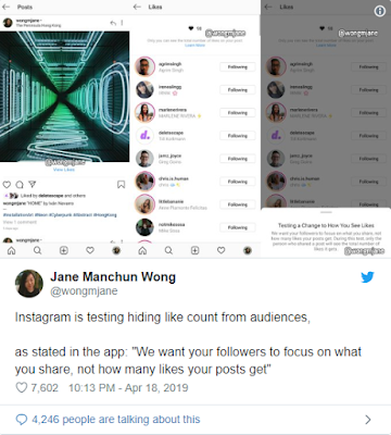 Instagram annuncia il piano per nascondere i 'Mi Piace'
