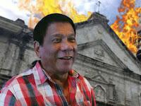 Gendeng, Duterte ajak Rakyatnya Masuk Neraka & Bantah Gereja