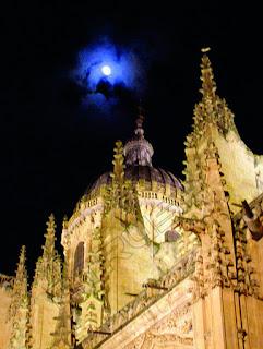 Catedral con Luna, Salamanca
