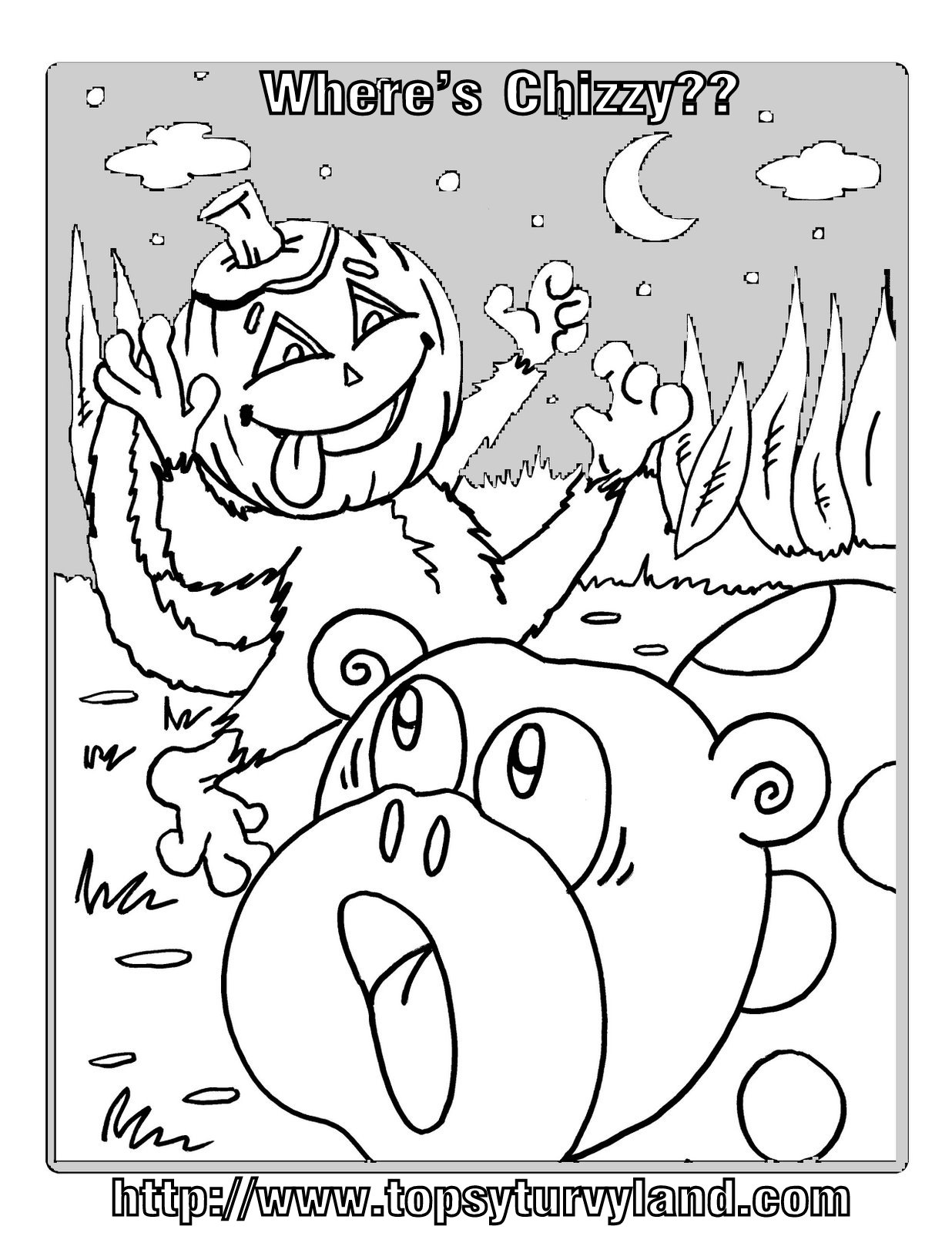 Hidden Pictures Publishing Coloring Page