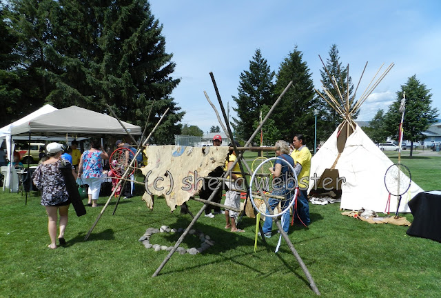 There are several displays with the teepee to show what they may have looked like in those days of teepees.