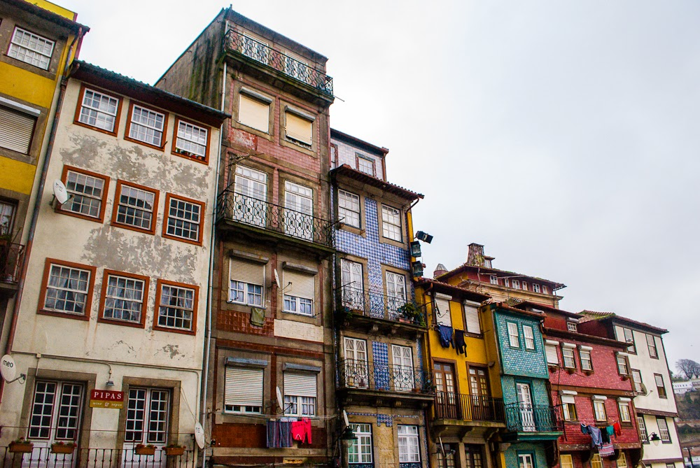buildings around the ribeira in porto
