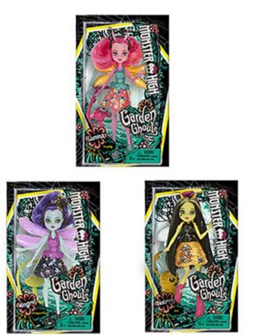 Garden Ghouls of Frights Jada Hindwing, Fyra Sparks, and Beeanca Stinger