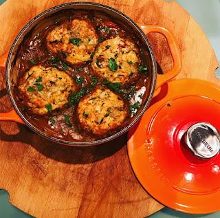Beef & Ale Casserole with Horseradish & Stilton Dumplings
