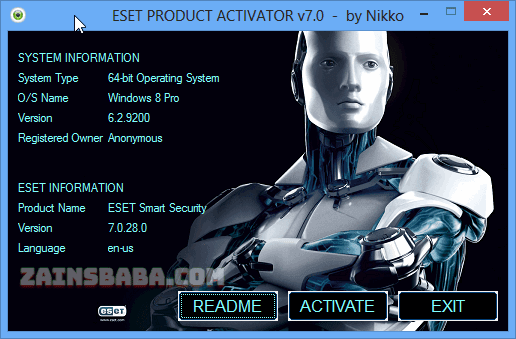 Eset Product Activator Universal Resetter 2017 Tarial By Nikko download at www.zainsbaba.com