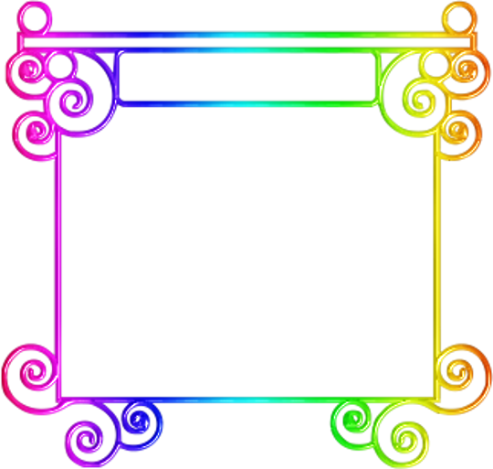 Marcos de colores frames png - Marcos transparentes ...