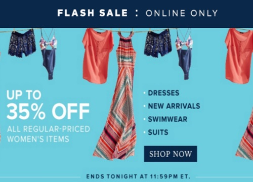 Hudson's Bay Flash Sale Up To 35% Off Regular Price Women's Items