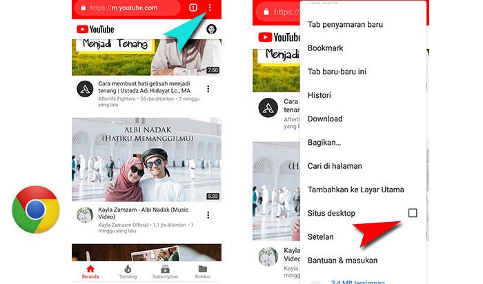 Cara Memutar Video Youtube Di Latar Belakang Tanpa Aplikasi