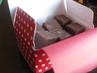 simple chocolate fudge cut in squares