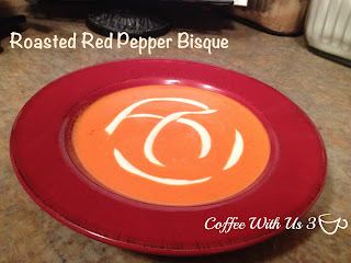 Roasted Red Pepper Bisque by Coffee With Us 3 #recipes