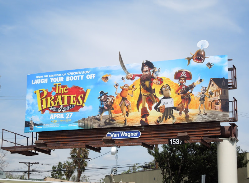 Pirates Band of Misfits movie billboard