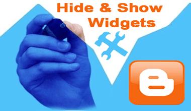 ব্লগার Widgets কিভাবে Show এবং Hide করতে হয়?
