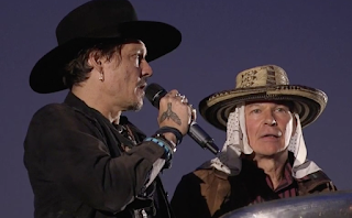 Johnny Depp slams Donald Trump at Glastonbury and asks: 'When was the last time an actor assassinated a president?'
