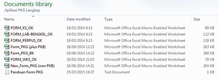 Aplikasi PKG Honorer dan Guru Lengkap Format Microsoft Excel