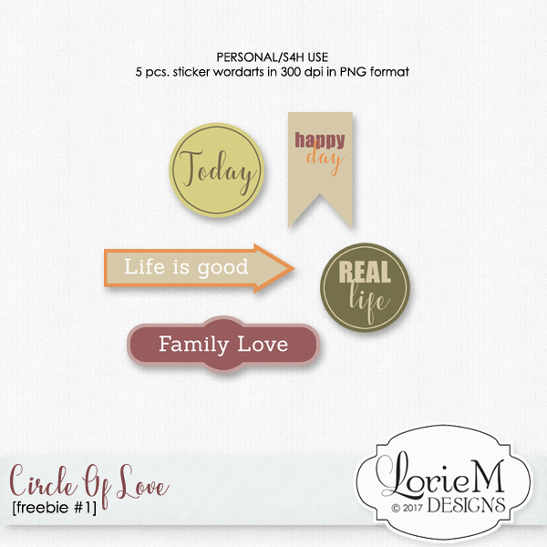Circle Of Love, $1.00 Each, FWP Offer + Freebie