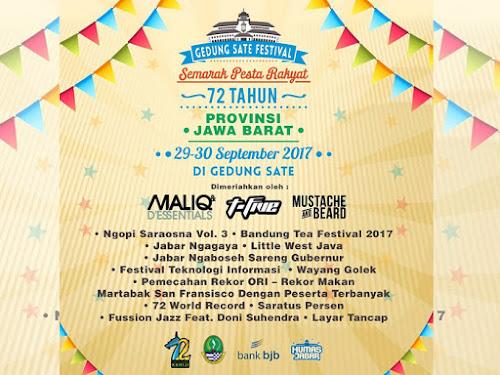Rangkaian Acara Gedung Sate Festival 2017