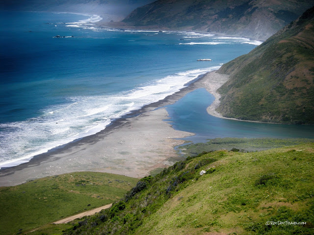 northern California coast geology tectonics san andreas travel field trip Ferndale Petrolia Cape Mendocino Punta Gorda copyright rocdoctravel.com