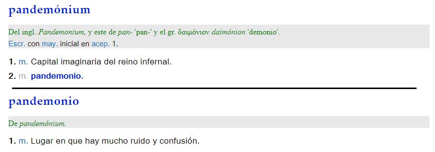 Pandemónium - definición