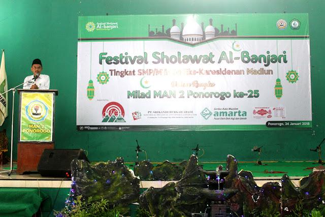 Festival Sholawat Al-Banjari MAN 2 Ponorogo 2018