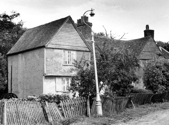 Photograph of Moffats Farm, Moffats Lane, Brookmans Park in the 1950s. Image from E. Stamp, part of the Images Of North Mymms Collection