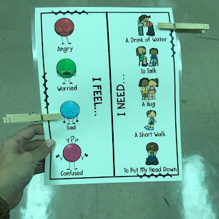 School Counselor Coping Skills Lesson Plan: Visual emotion communication board