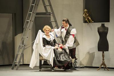 Mozart The Marriage of Figaro - Anna Devin, David Stout - WNO - photo Richard Hubert Smith
