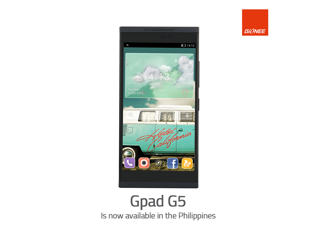 Gionee Gpad G5, 5.5-inch Phablet with Dragontrail Processor, Now Available in the Philippines for Php 9,499
