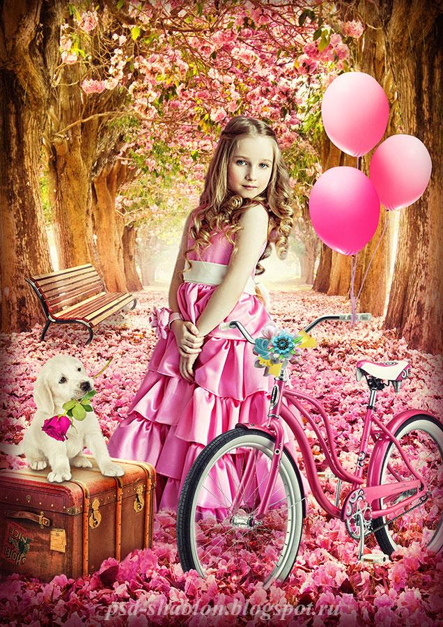Шаблоны девочек для открыток 210