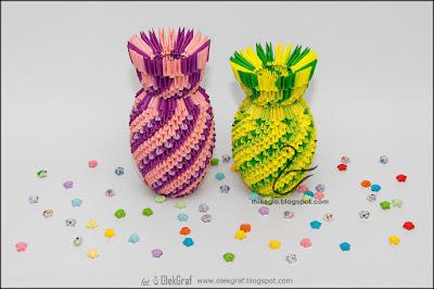 368. Spiralne wazony / 3d origami spiral vases