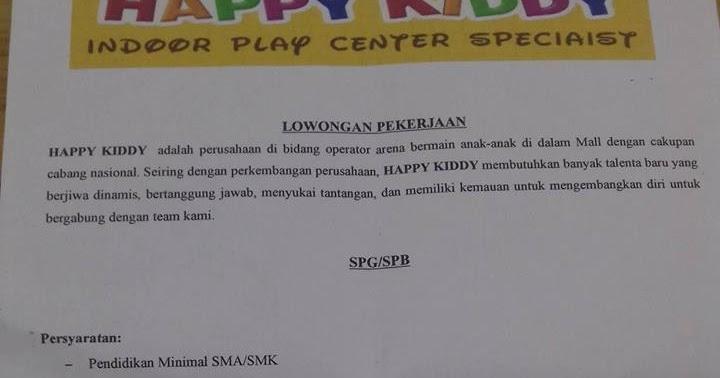 Loker Sejabotabek 2013  Lowongan Kerja Happy Kiddy