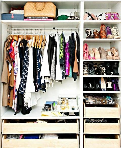 langkah mengatur lemari pakaian