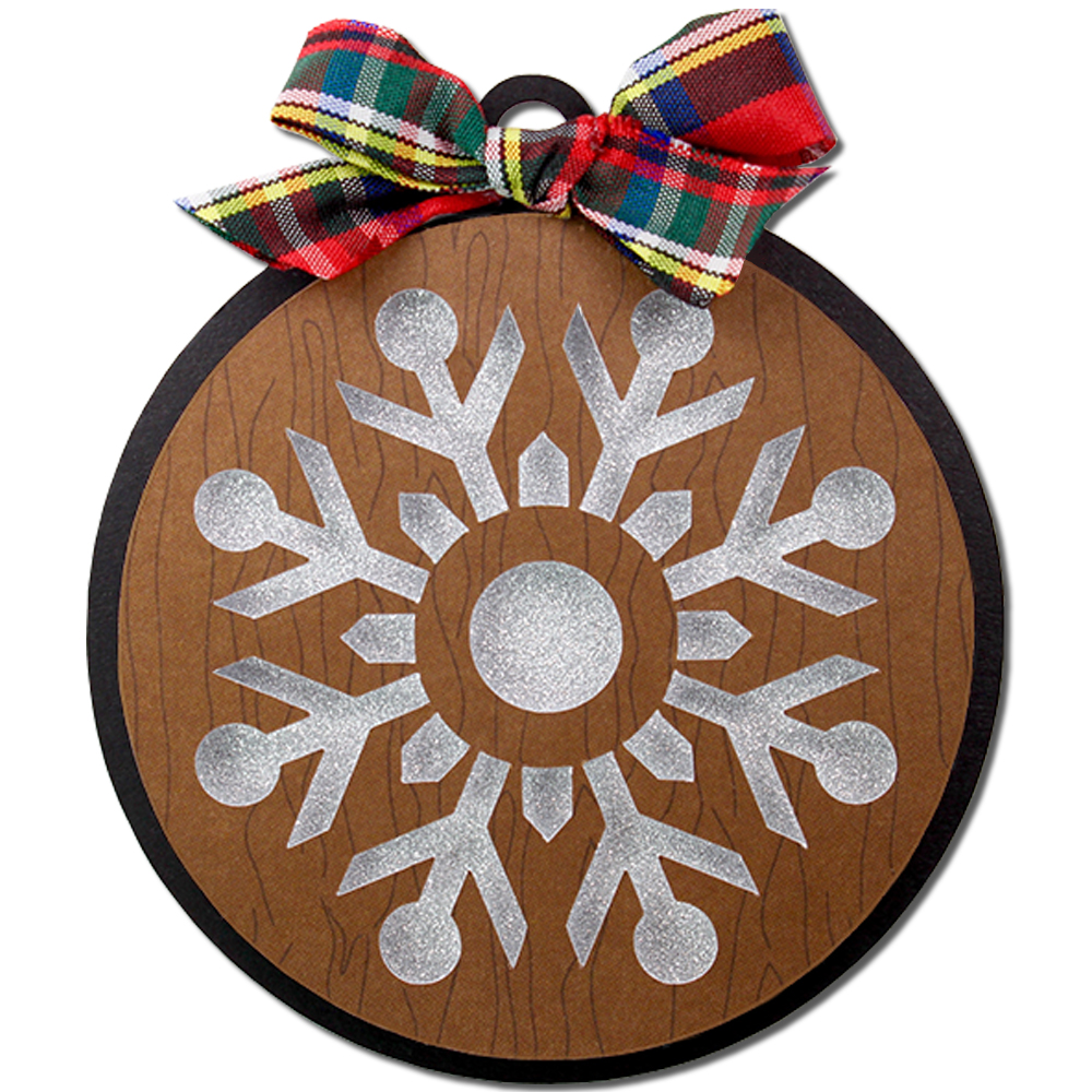 jmrush designs snowflake round gift tag ornament