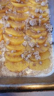 Ramblings Thoughts Peaches 'n Cream Squares