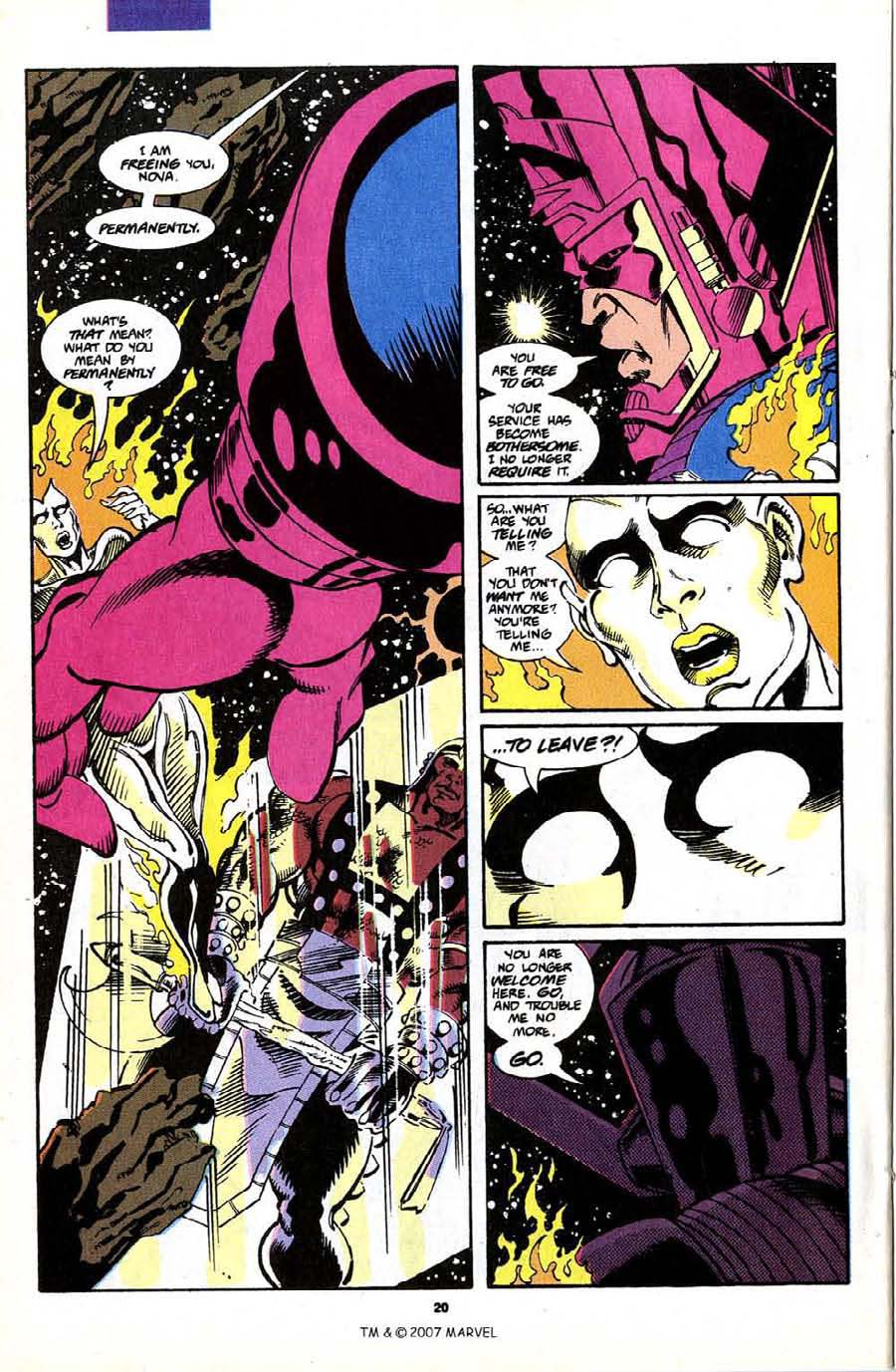 Read online Silver Surfer (1987) comic -  Issue #70 - 22