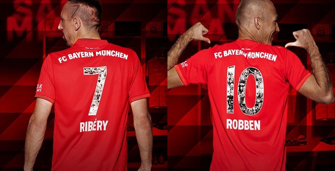 meet 6e3d1 25495 Special Bayern Munich Rafinha, Ribery & Robben Kit Numbers ...