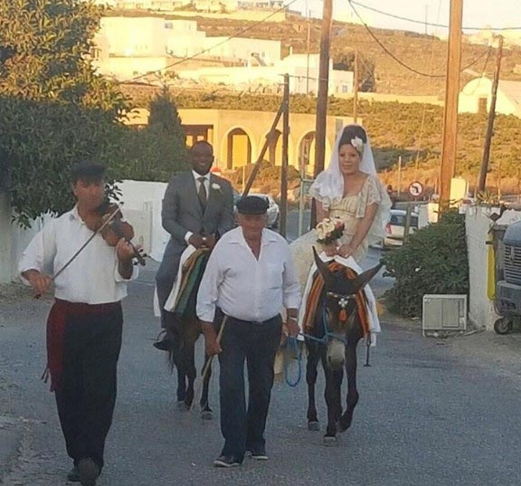 Monalisa Chinda and hubby ride horses as couple wed in Greece
